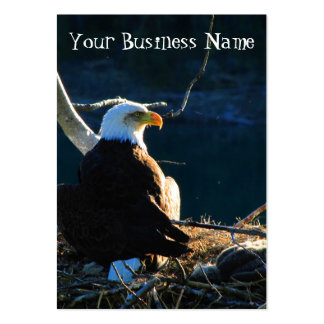 BEWB Bald Eagle With Baby Large Business Card