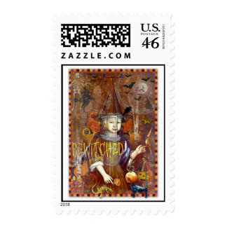 Bewitched Collage Postage Stamps