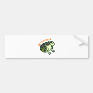 bewitched toad bumper sticker