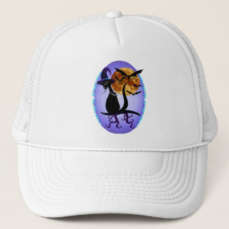 Bewitching Black Kitty Trucker Hat
