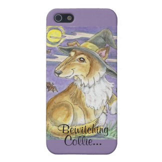 Bewitching Collie Dog Halloween Witch Art iPhone SE/5/5s Case
