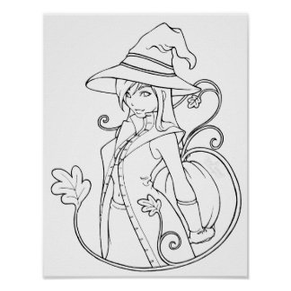 Bewitching Color-Your-Own Posters