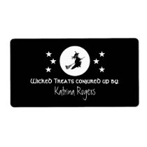 Bewitching Halloween Baking Labels, Black Shipping Label