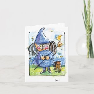 Bewitching Halloween Card card