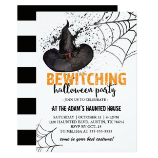 Bewitching Halloween Party Invitation