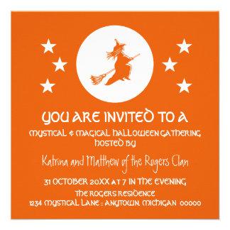 Bewitching Halloween Party Invite, Orange