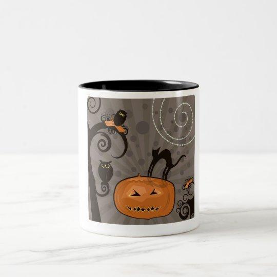 Bewitching Halloween Two-Tone Coffee Mug