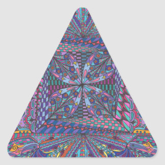 Bewitching Hour Design Triangle Sticker
