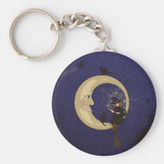 Bewitching! Basic Round Button Keychain