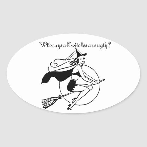 Bewitching Oval Sticker/Letter Seal Oval Sticker