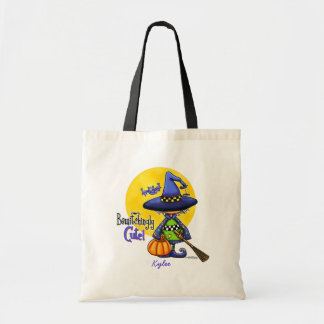 Bewitchingly Cute Witch Budget Tote Bag