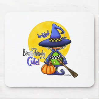 Bewitchingly Cute Witch Mouse Pad