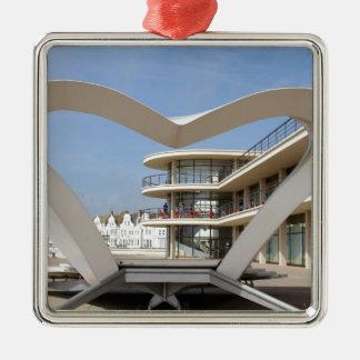 Bexhill-en-Mar de De La Warr Pavilion Adorno Cuadrado Plateado
