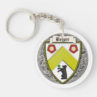 Beyer (Switzerland/Saxony) family arms Acrylic Keychain