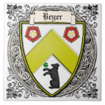 Beyer (Switzerland/Saxony) family arms Tile