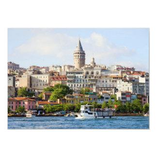Beyoglu District and Galata Tower in Istanbul Invite