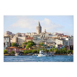 Beyoglu District and Galata Tower in Istanbul Photo Print