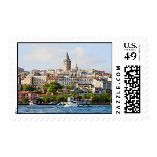 Beyoglu District and Galata Tower in Istanbul Postage Stamps