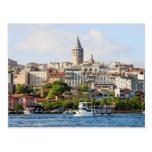 Beyoglu District and Galata Tower in Istanbul Post Card