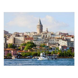 Beyoglu District and Galata Tower in Istanbul Postcard