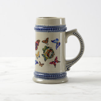Beyond Butterflies Beer Stein