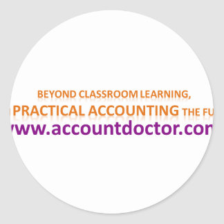 Beyond classroom learning classic round sticker