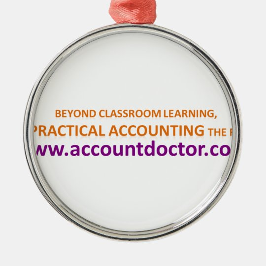 Beyond classroom learning metal ornament