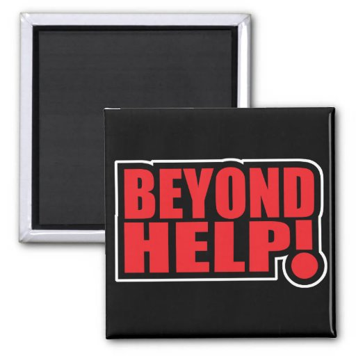 beyond help 2 inch square magnet