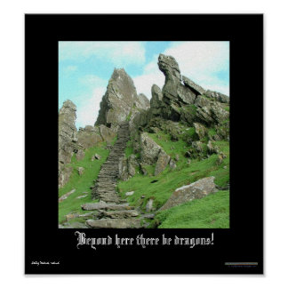 Beyond Here There Be Dragons Poster