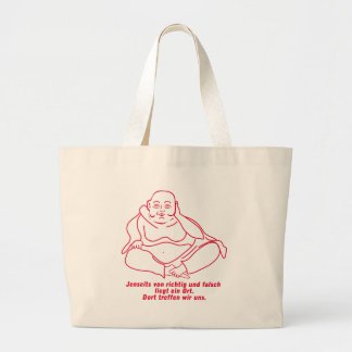 Beyond of correct and wrongly large tote bag