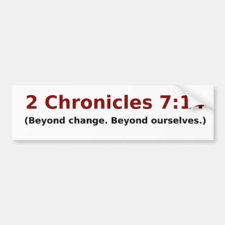 Beyond political change. car bumper sticker