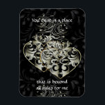 "Beyond Rules Black Heart 3&quot;x4&quot; Magnet<br><div class=""desc"">JZB loves Mac</div>"