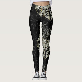Beyond Rules Black Heart Leggings
