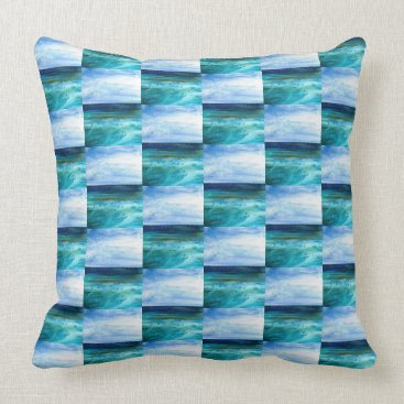 Beach Themed Beyond the Blue Pillow