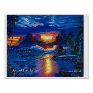 Beyond The Horizon - Healing Art Poster