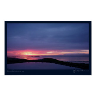 """Beyond the horizon, the sun"" Print"