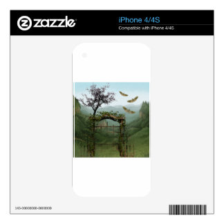 BEYOND THE OLD GARDEN GATE DECAL FOR THE iPhone 4S