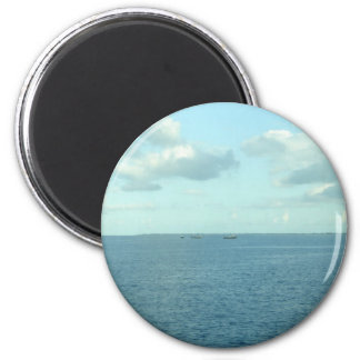 Beyond the sea 2 inch round magnet