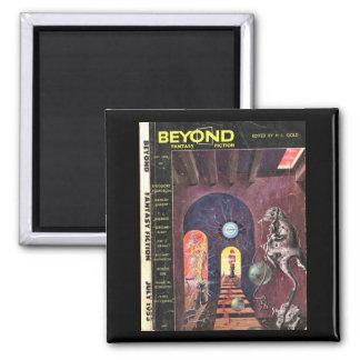 Beyond v01 n01 (1953-07.Galaxy)_Pulp Art 2 Inch Square Magnet