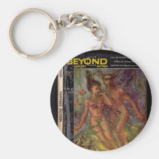 Beyond v01 n04 (1954-01.Galaxy)_Pulp Art Basic Round Button Keychain