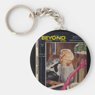 Beyond v01 n05 (1954-03.Galaxy)_Pulp Art Basic Round Button Keychain