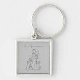 beyondmeasure, love - beyond measure Silver-Colored square keychain