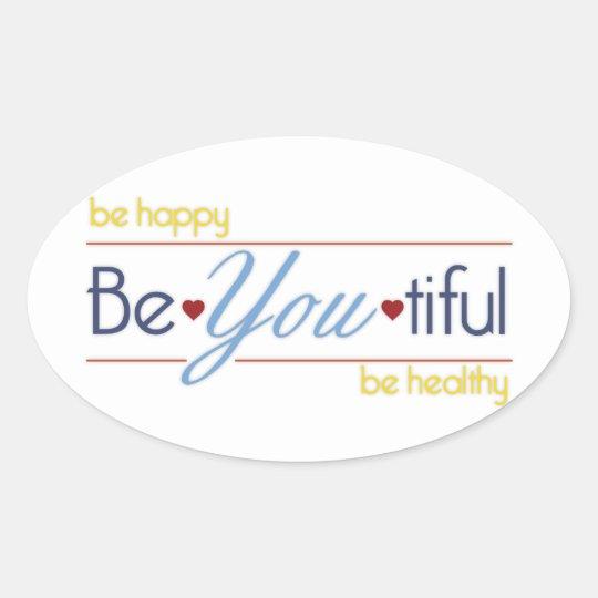 BeYoutiful Oval Sticker