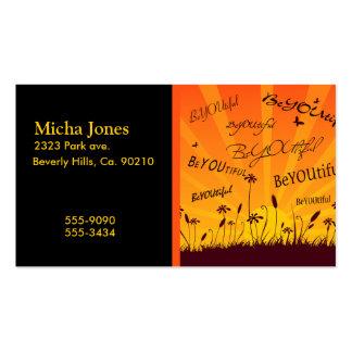 BeYOUtiful Sunset And Butterflies Business Card Template