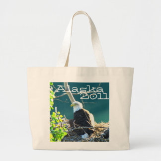 BEYR Bald Eagle Yukon River Large Tote Bag