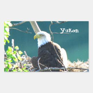 BEYR Bald Eagle Yukon River Rectangular Sticker