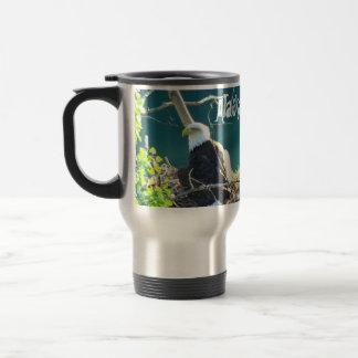 BEYR Bald Eagle Yukon River Travel Mug