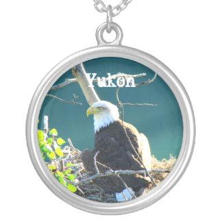 BEYR Eagle calvo el río Yukón Colgante Redondo