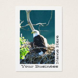 BEYR Eagle calvo el río Yukón Tarjetas De Visita Grandes