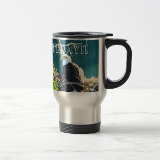 BEYR Eagle calvo el río Yukón Tazas De Café